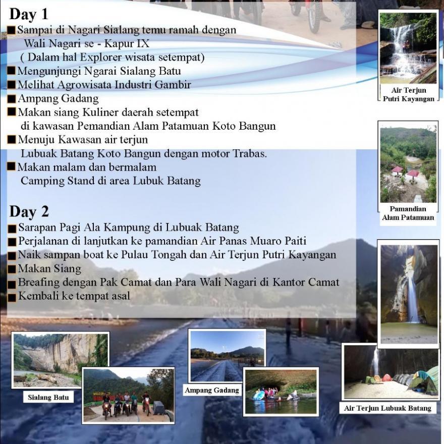 ASOSIASI PELAKU PARIWISATA INDONESIA GAGAS TWO DAYS EXPLORER KAPUR IX TOURISM